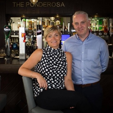 Owner Karl with manager Jill